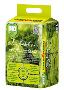 Verpackung von Anzuchterde mit Bio-Zertifikat