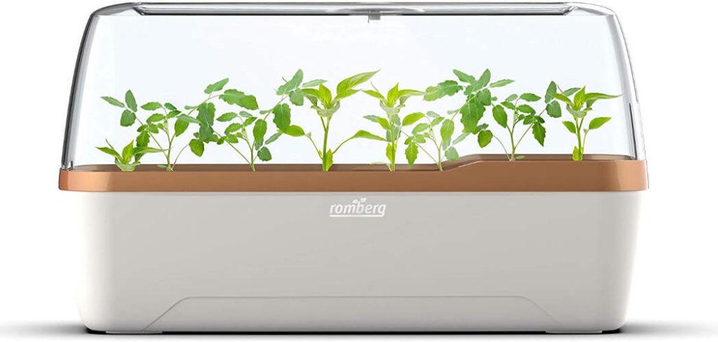Pflanzkastensystem als Mini-Gewächshaus