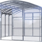 Industriegewächshaus Produktbild 4x4m bis 4x14m